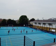 Floodlit multi purpose sports pitch